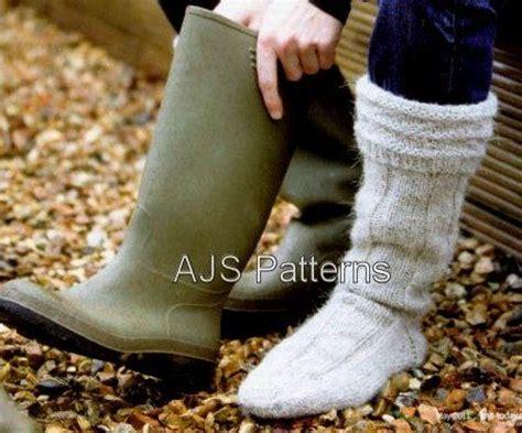 pattern for aran socks pdf knitting pattern for mens aran wellington boot socks