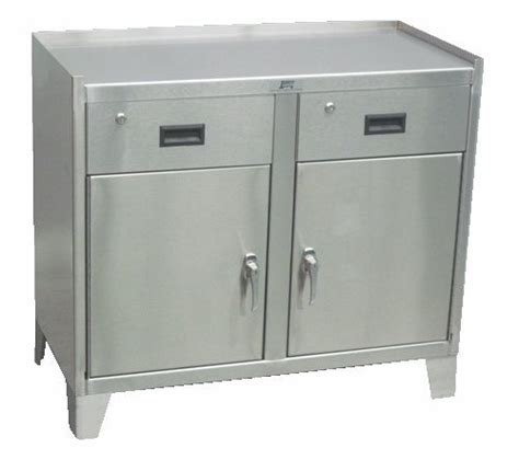 stainless steel cabinet 2 door and 2 drawers jamco