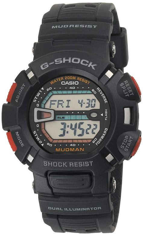 Men's Watches - Casio Men's G9000-1V G-Shock Mudman ... G Shock Mudman G9000