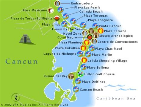 map of mexico showing cancun cancun area maps mexico