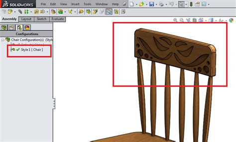 solidworks tutorial chair solidworks configuration tutorial part 2 of 2 12cad com