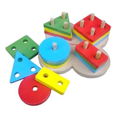 Basic Shape Mainan Edukasi Geometri Dasar Empat Bentuk Edukatif Anak mainan kayu edukatif basic shape bunga kayu seru