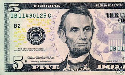 abraham lincoln on the five dollar bill great east wholesale usa 5 dollar bill abraham lincoln