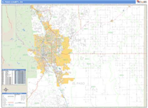 zip code map el paso county el paso county co zip code wall map basic style by marketmaps