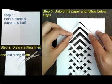 Youtube Tutorial Kirigami | kirigami tutorial how to make kirigami easy and simple