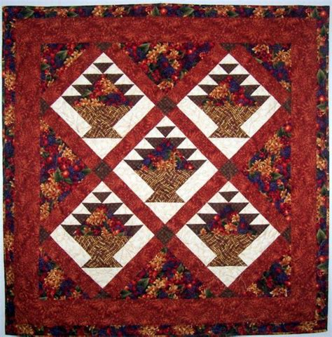 Flower Basket Quilt Pattern by All Seasons Flower Basket Quilt Pattern Instant