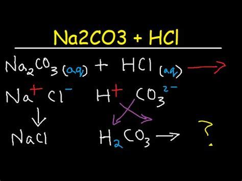 sodium carbonate + hydrochloric acid balanced molecular