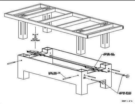 Adjustable Height Workbench Plans Purple39tgo Adjustable Height Desk Plans
