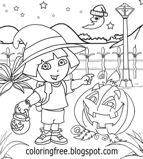 dora halloween coloring page free coloring pages printable pictures to color kids