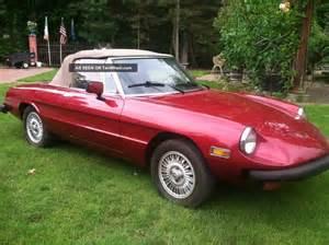 Second Alfa Romeo Spider Classic 1979 Alfa Romeo Spider