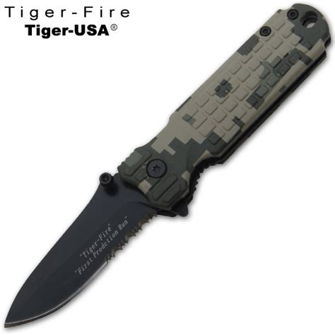 6 inch knife 6 inch tiger folding knife camo