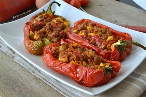 cucina peperoni ripieni peperoni ripieni di carne ed uovo cucina che ti passa