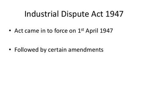 Industrial Relations In Hrm For Mba In Jntu Notes by Mba Ii Hrm U 4 6 Industrial Dispute