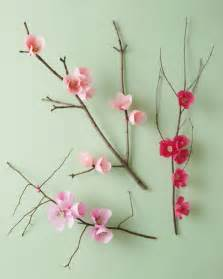 How To Make Cherry Blossoms Out Of Paper - cherry blossom branch martha stewart