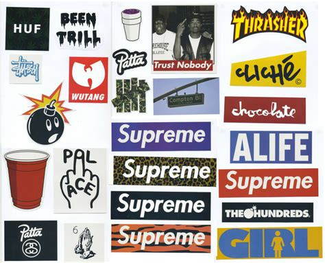supreme stickers 25 pcs supreme box logo mixed lot stickers skateboard