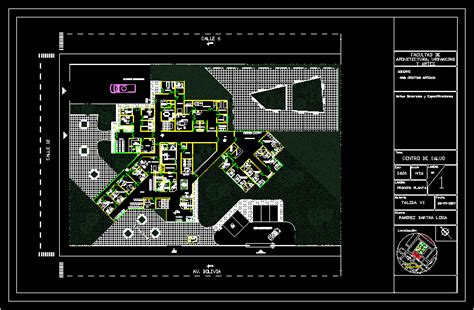 Mobiliario De Kinder Autocad by Health Center Obstetrics 2d Dwg Plan For Autocad