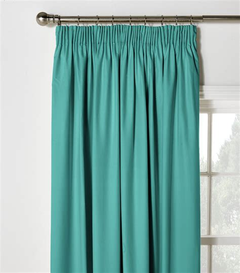 Teal Blackout Curtains Colourmatch Blackout Pencil Pleat Curtains 168x229cm Teal