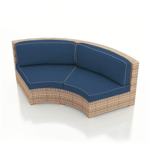 Rattan Curved Sofa Forever Patio Hton Wicker Curved Sofa Wicker