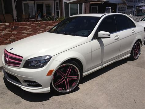 white girly cars white mercedes benz with pink accessories girly car fun