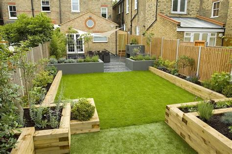 small backyard landscape design wooden raised bedding garden escape pinterest raised
