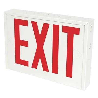 rb b black led exit sign with battery backup