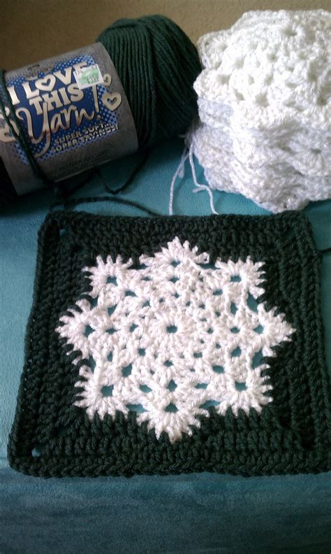pattern for snowflake granny square snowflake granny square afghan pattern knit crochet