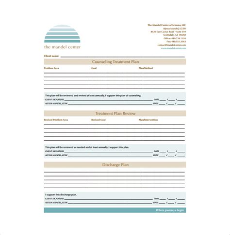 treatment sheet template treatment plan template cyberuse