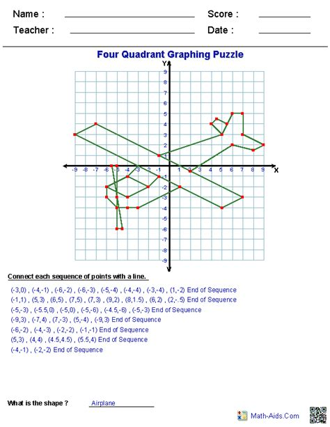 Coordinate Plane Picture Worksheets by Geometry Worksheets Coordinate Worksheets With Answer