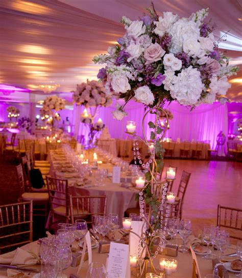 purple and white centerpieces for weddings purple and gold wedding centerpieces with white
