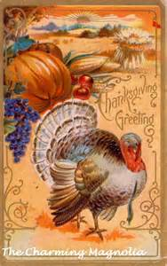 vintage thanksgiving digital by thecharmingmagnolia