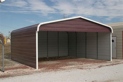 Car Ports Metal by Metal Sided Carports Steel Sided Carports