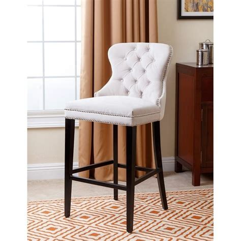 Blaise Bar Stool by Abbyson Living Blaise 30 Quot Upholstered Bar Stool In Ivory