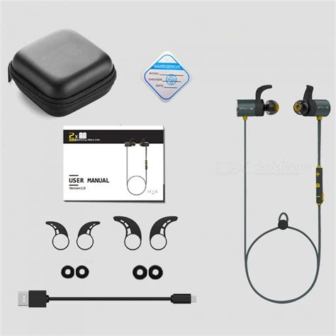 Play Set Microphone Free Batre plextone bluetooth v4 1 sports earphone ipx5 waterproof dual batteries 8 hour play with mic