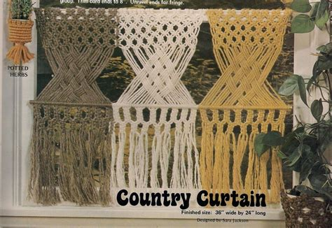 country curtain patterns gm19 country window curtain more patterns in macrame