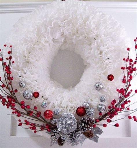 Summer Entertaining Menu Ideas - winter coffee filter wreath allfreechristmascrafts com