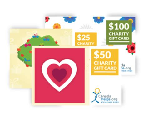 Gift Cards For Charity - redeem a charity gift card canadahelps donate to any charity in canada