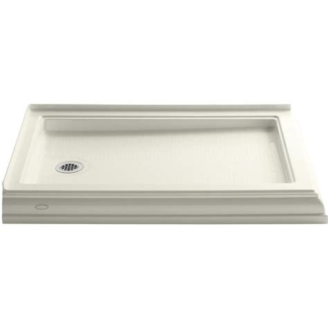Shower Bases At Lowes by Shop Kohler Memoirs Biscuit Acrylic Shower Base Common