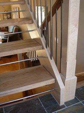 custom  open staircase  dancing grains woodworks