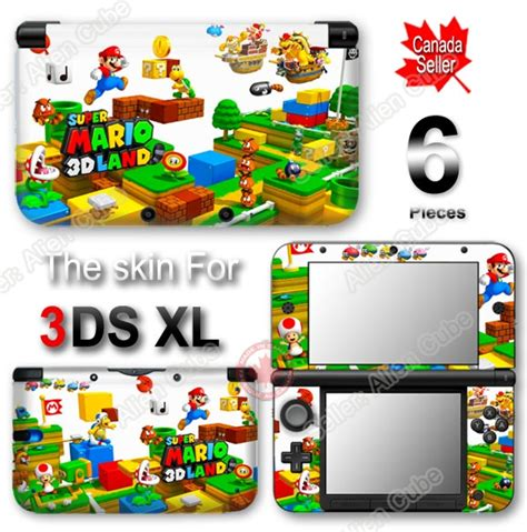 Nintendo 3ds Xl Mario 3d Land Original N3ds mario 3d land decal skin vinyl sticker cover for nintendo 3ds xl ebay