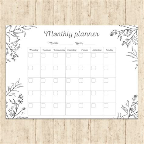 planner free painted monthly planner vector free