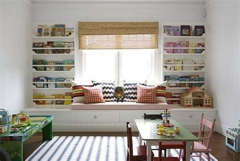 bookshelves around window bookshelf styling