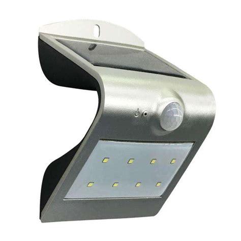 aplique solar aplique led solar peel silver iluminaci 243 n exterior