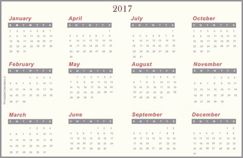 printable calendar 2017 download 2017 calendar zone