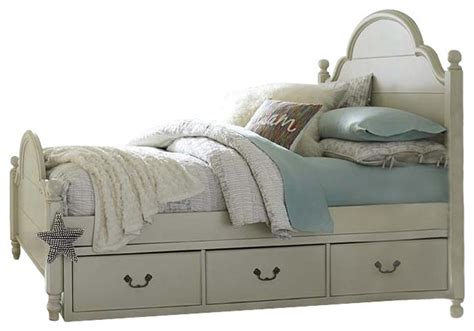 Morning Mist Bedroom Furniture Low Poster Bed With Underbed Storage Drawers Both Sides Morning Mist Classique Lit 224