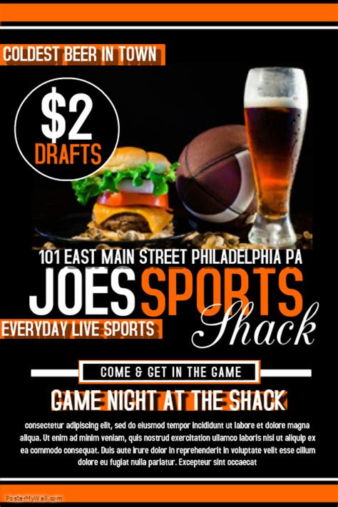 sports bar template postermywall