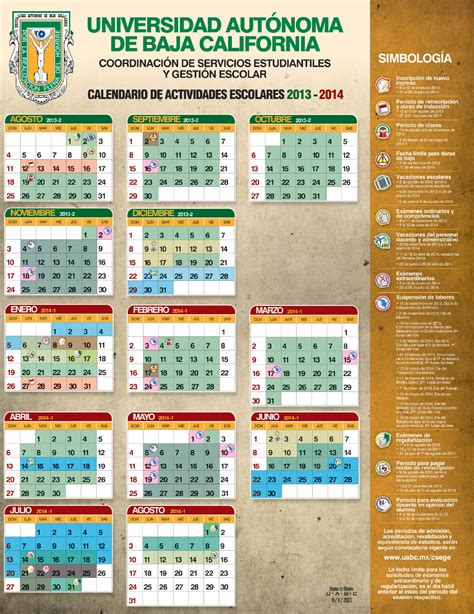 Calendario Escolar Uabc Calendario Escolar Uabc 2013 2014