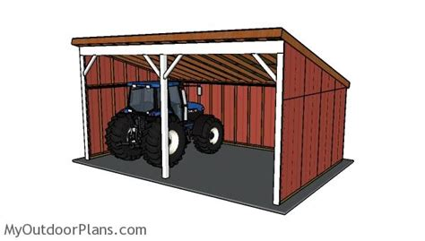 Tractor Shed Plans Myoutdoorplans Free Woodworking Plans For Building A Tractor Shed