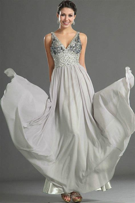 custom wedding dress gray bead chiffon custom evening dress prom gown wedding