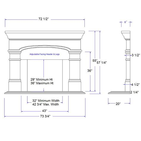 Fireplace Hearth Depth by Arts And Crafts Fireplace Mantel Dimension Sketch