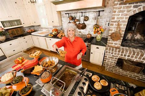 paula deen in kitchen via food network hooked on houses